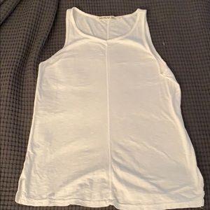 Michael Stars sleeveless shirt white O/S